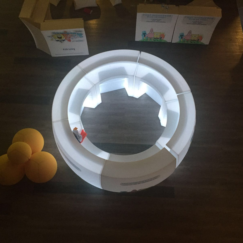 Bar Counter Rental - Illuminated White Counter