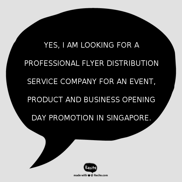 Singapore Flyer Distribution Service Company - Contact Us - Electric Dreamz