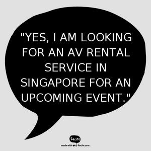 AV Rental Singapore - Electric Dreamz | Contact Us