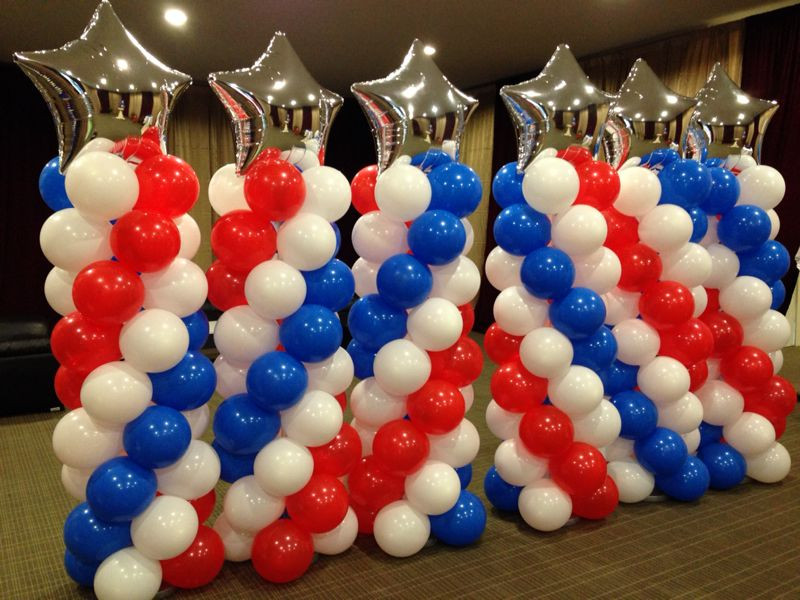 balloon columns - event decoration
