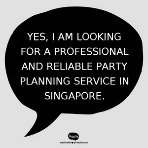 Party Planner in Singapore - Electric Dreamz