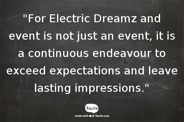 Singapore Event Management Company - Electric Dreamz