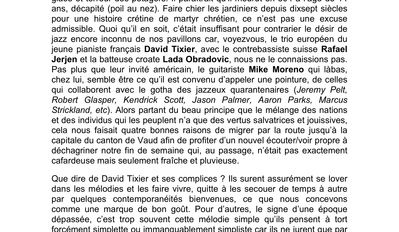 Articles Chorus Yves Dorison