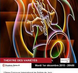 David Tixier: 2nd Price at the Monaco International Jazz Soloists Competition 2015
