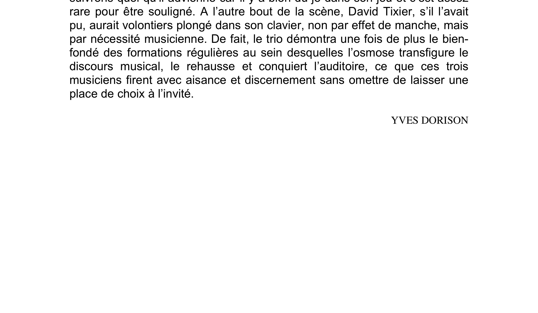 Articles Chorus Yves Dorison 2