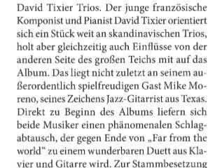 """Article in HiFi about """"Universal Citizen"""", David Tixier Trio's album"""