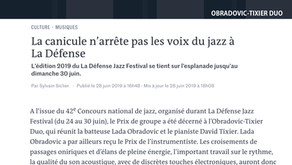Article in the French newspaper Le Monde by Sylvain Siclier