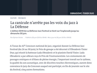 La Défense Jazz Festival - Article in LeMonde.fr