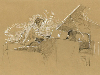 Jazz A Vienne - Croquis by François ROBIN