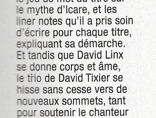 "Jazz Magazine 4**** - ""Because I Care"" album David Tixier Trio feat. David Linx"