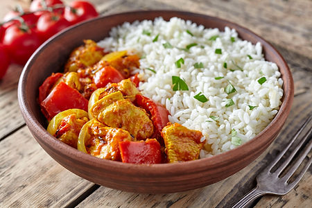 Chicken jalfrezi healthy traditional Ind