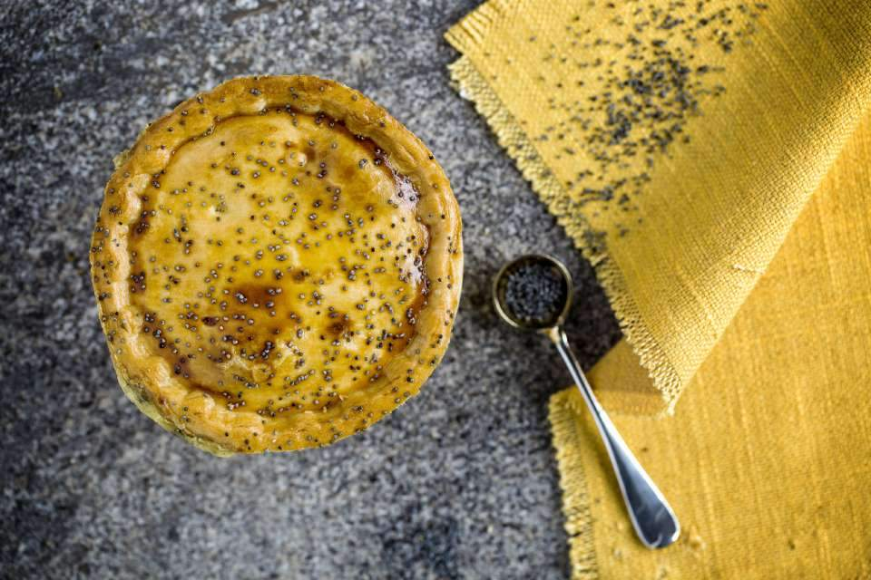 Seriously Cheesy Golden Beet & Bean Pie