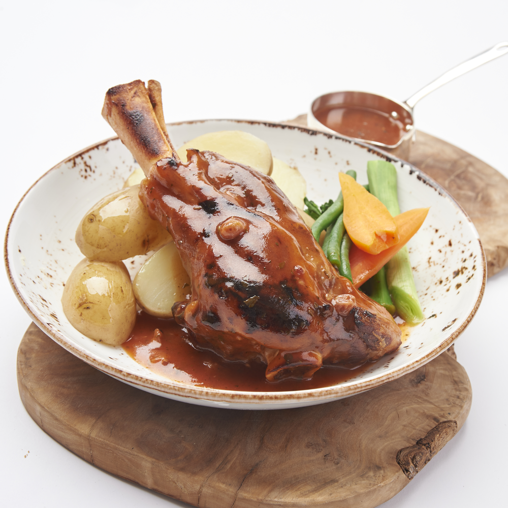 Lamb Shank In Mint Gravy Oliver James