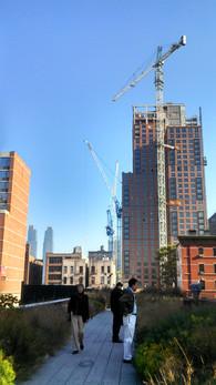 Construction near Hudson Yards; Manhattan, NY