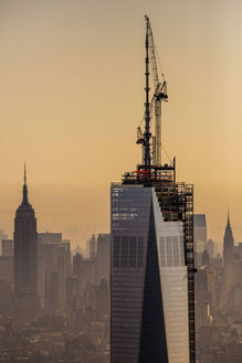 Construction of One World Trade Center; Manhattan, NY