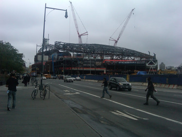 Construction of Barclays Center; Brooklyn, NY