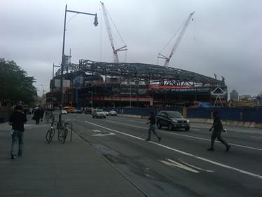 Construction of Barclays Center; Brooklyn, NY