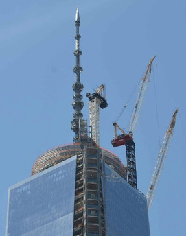 Erection of One World Trade Center Antenna; Manhattan, NY