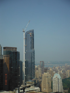Construction of One57 Building; Manhattan, NY