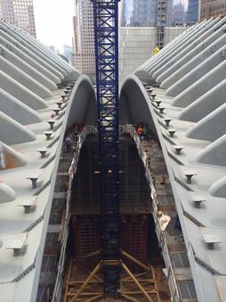 Construction of The World . Trade Center Oculus; Manhattan, NY