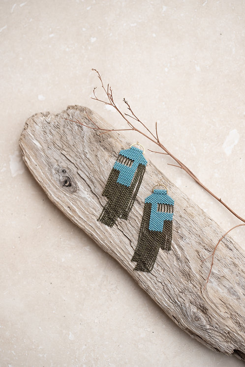 A Earring  (Nile Blue)