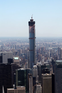 Late stages of 432 Park Avenue construction; Manhattan, NY