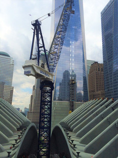 Construction of World Trade Center Oculus; Manhattan, NY
