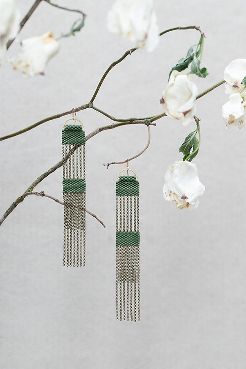 Silo  Moss earrings