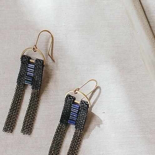 Ladder Lapis earrings