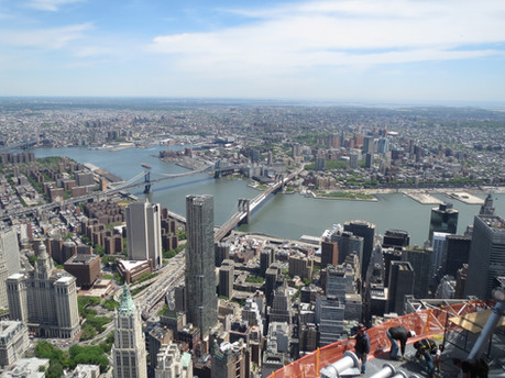 View of the East River and Brooklyn from One World Trade Center