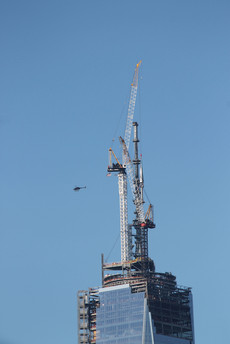 Tower Crane atop One World Trade Center; Manhattan, NY