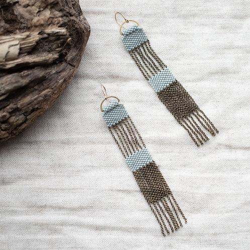 Silo blue grey earrings