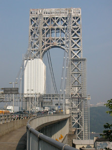 View of George Washington Bridge; Manhattan, NY