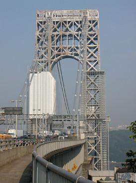 View of George Washington Bridge; Manhattan, NY