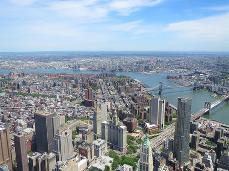 View of the Lower East Side of Manhattan from One World Trade Center