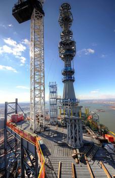 Erection of One World Trade Center Antenna; Manhattan, NY