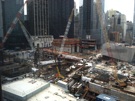 Construction of 9/11 Memorial and World Trade Center Transportation Hub; Manhattan, NY