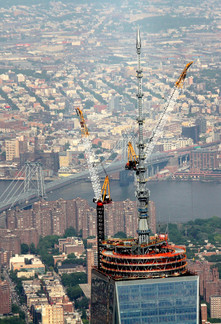 Antenna Erection atop One World Trade Center; Manhattan, NY