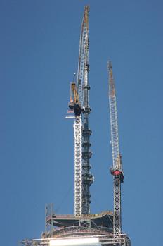 One World Trade Center Antenna Construction; Manhattan, NY