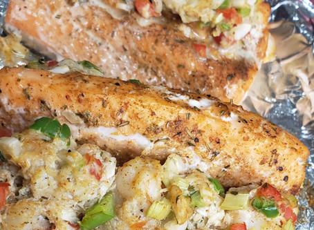 Seafood Stuffed Salmon