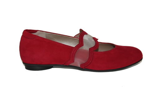 IRIS RED SUEDE