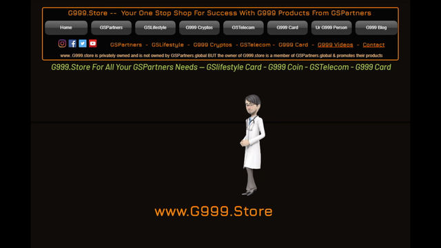 Get Your Own G999 Animated Talking Spokesman. Increase GSPartners Signs Ups