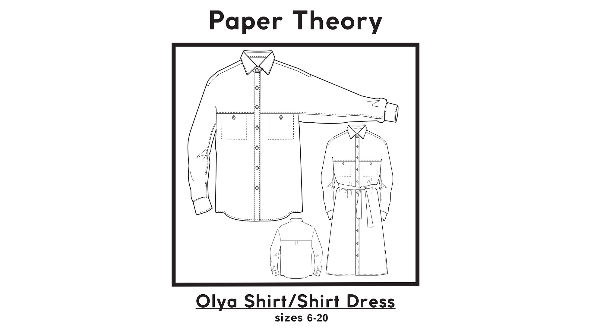 Olya Shirt / Shirt Dress PDF Pattern