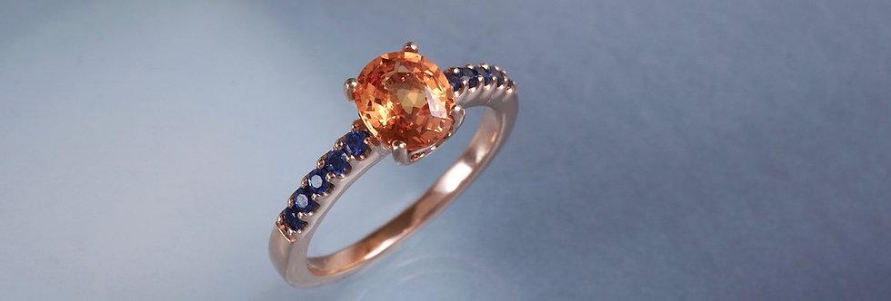 Ring Mandarin Granat/Saphir