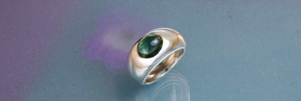 Silber: Ring Turmalin