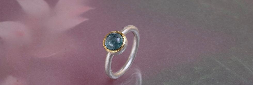 Silber: Ring Aquamarin