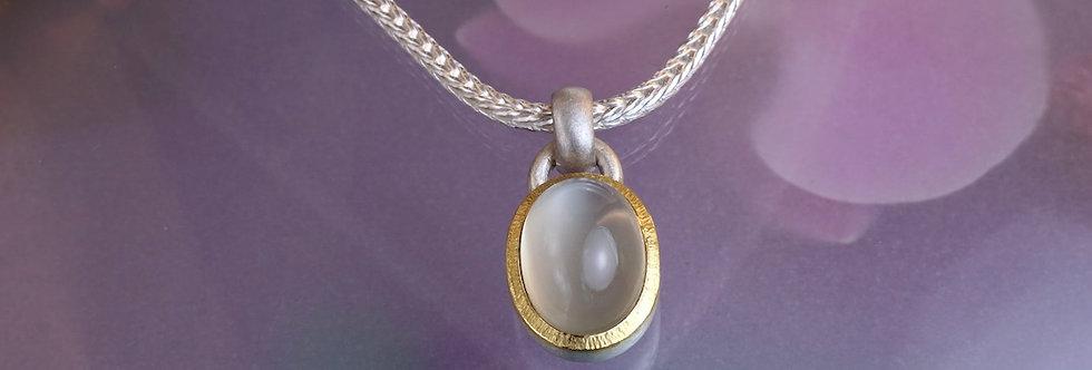 Silber: Kettenanhänger Mondstein