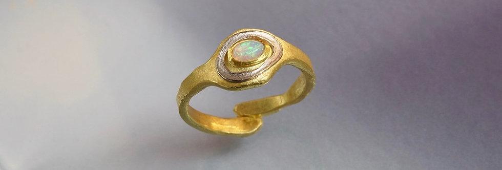 "Ring Opal ""Bicolor"""