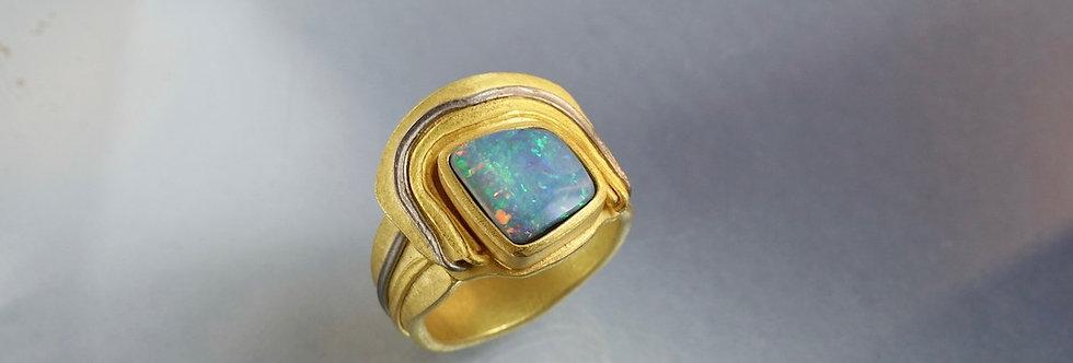 "Ring Opal ""Schild"""