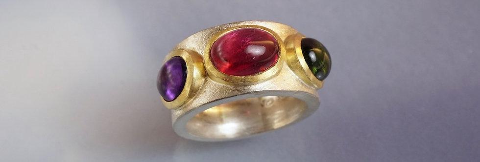 Ring Turmaline/Amethyst